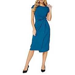Dorothy Perkins - Lily & Franc teal blue manipulated shift dress