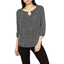 Dorothy Perkins - **Billie & Blossom petite black disco trim blouse