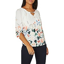 Dorothy Perkins - Billie & blossom multi coloured floral print trim top