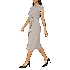 Dorothy Perkins - Lily & franc grey manipulated midi dress