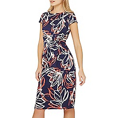 Dorothy Perkins - Lily & frank navy manipulated shift dress