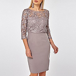 Dorothy Perkins - Showcase mink darcy lace pencil dress
