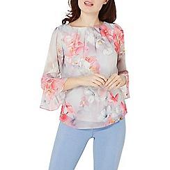Dorothy Perkins - Billie & blossom grey floral sequin blouse