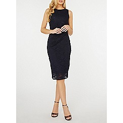 Dorothy Perkins - Billie & blossom navy lace manipulated pencil dress