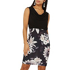 Dorothy Perkins - Billie & blossom black cowl floral bodycon dress