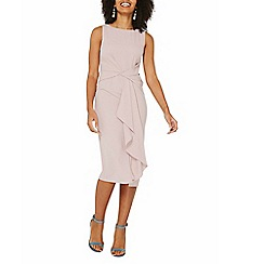 Dorothy Perkins - Luxe blush frill manipulated dress