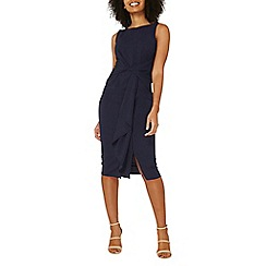 Dorothy Perkins - Luxe navy frill manipulated dress