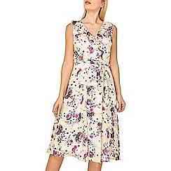 Dorothy Perkins - Billie & blossom lemon floral print wrap midi dress