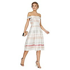 Dorothy Perkins - Luxe multi coloured striped bardot prom dress