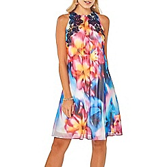 Dorothy Perkins - Showcase multi coloured tropical lily trapeze dress