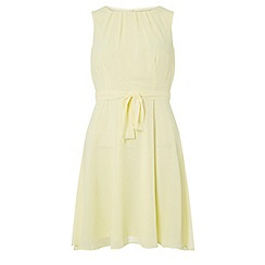Dorothy Perkins - Billie & blossom petite yellow chiffon fit and flare dress