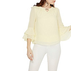 Dorothy Perkins - Billie & blossom lemon flute sleeve trim top