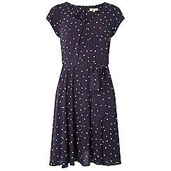 Dorothy Perkins - Billie & blossom petite navy spotted skater dress