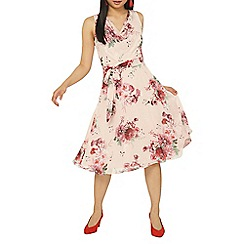 Dorothy Perkins - Billie & blossom petite blush floral print skater dress