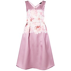 Dorothy Perkins - Luxe blush bow prom dress