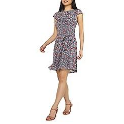 Dorothy Perkins - Billie & blossom petite navy ditsy skater dress