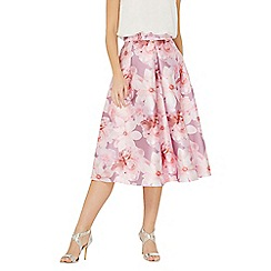 Dorothy Perkins - Luxe blush floral print prom skirt