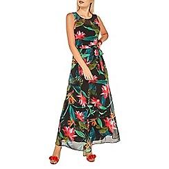 Dorothy Perkins - Billie & blossom black tropical chiffon maxi dress