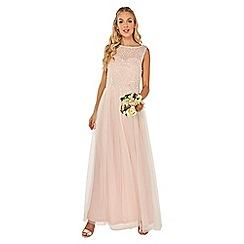Dorothy Perkins - Showcase blush sequin and pearls harper maxi dress