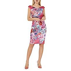 Dorothy Perkins - Scarlett b pink floral print bodycon dress
