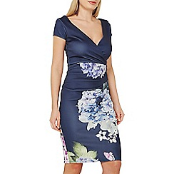 Dorothy Perkins - Scarlett b navy floral bodycon dress