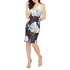 Dorothy Perkins - Scarlett b black and ivory floral print megan bodycon dress