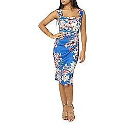 Dorothy Perkins - Scarlett b blue floral lara bodycon dress