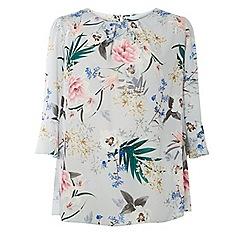 Dorothy Perkins - Curve grey floral print top