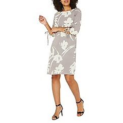 Dorothy Perkins - Lily & franc grey floral shift dress