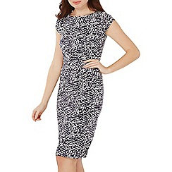 Dorothy Perkins - Navy speckle pencil dress