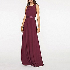 Dorothy Perkins - Tall Burgundy Natalie Maxi Dress