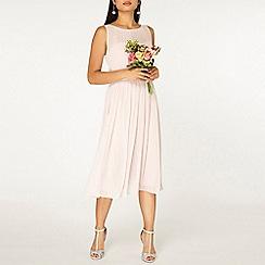 Dorothy Perkins - Showcase petite blush Bethany midi dress
