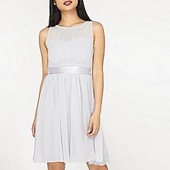 Dorothy Perkins - Grey petite Bethany knee length dress