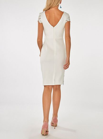 Dorothy bodycon Scarlett printed white dress b Perkins r8vXr