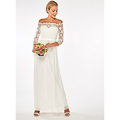 Dorothy Perkins - Showcase bridal ivory trinity maxi dress
