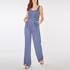 Dorothy Perkins - Showcase blue baylee pleated jumpsuit