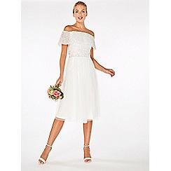 Dorothy Perkins - Showcase white embroidered midi dress