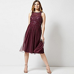 Dorothy Perkins - Showcase mulberry cordelia midi skater dress