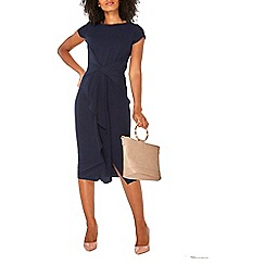 Dorothy Perkins - Luxe navy crepe shift dress