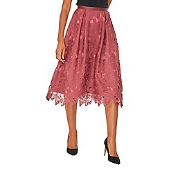 Dorothy Perkins - Luxe plum lace skirt