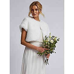 Dorothy Perkins - Showcase bridal white faux-fur bolero