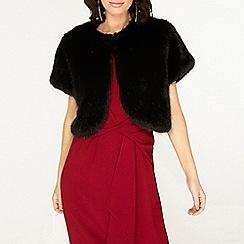 Dorothy Perkins - Showcase black faux fur bolero