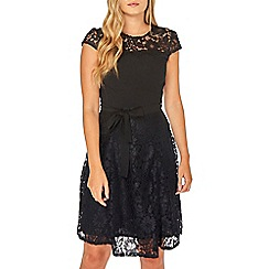 Dorothy Perkins - Billie & blossom black lace skater dress