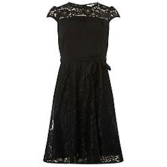 Dorothy Perkins - Billie & blossom petite black lace skater dress