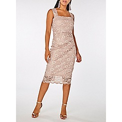 Dorothy Perkins - Scarlett b blush lace lara bodycon dress