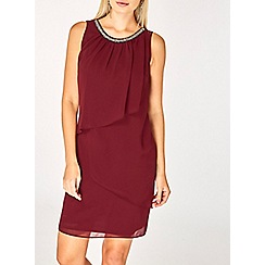 Dorothy Perkins - Billie and blossom mulberry embellished trapeze dress
