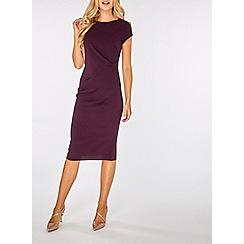 Dorothy Perkins - Lily & franc purple crepe manipulated pencil dress
