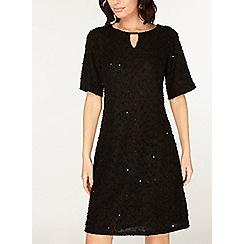 Dorothy Perkins - Billie & blossom black sparkle trim shift dress
