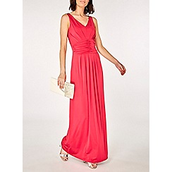 Dorothy Perkins - Showcase cranberry daisy maxi dress