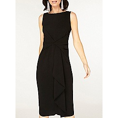 Dorothy Perkins - Luxe black crepe manipulated wrap dress